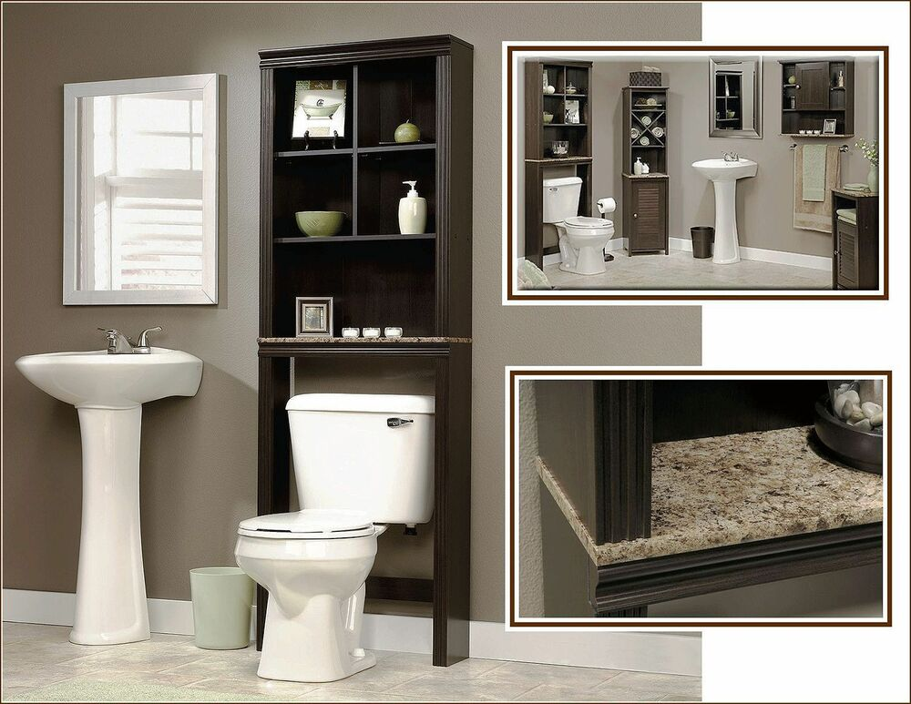 Bathroom Storage Cabinet Tall Linen Towel Over Toilet Wood