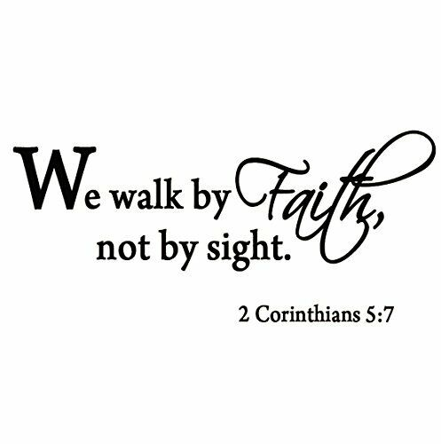We Walk By Faith Not By Sight 2 Corinthians 5 7 Wall Decal Quote Bible Religious Ebay