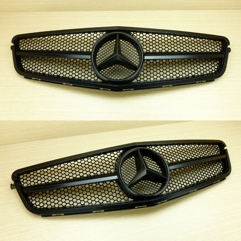 Mercedes benz c class w204 c63 look matte black front for Mercedes benz c300 accessories