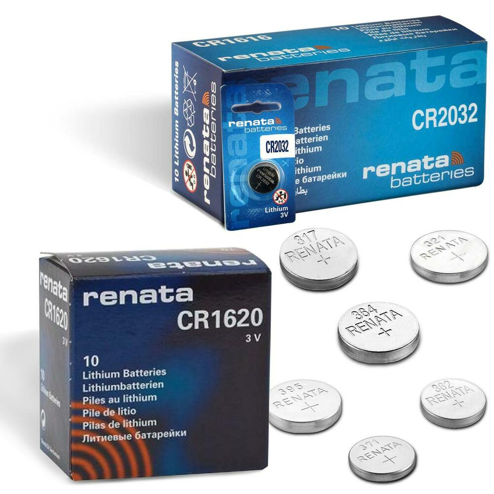 2x all sizes renata watch battery swiss made silver oxide renata batteries cell ebay for Watches battery