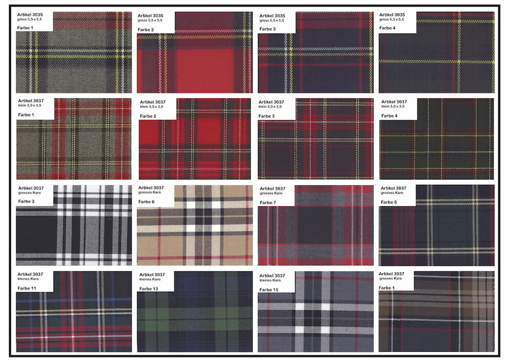 schottenkaro tartan schotten karo stoffe bekleidung viscose elastisch div muster ebay. Black Bedroom Furniture Sets. Home Design Ideas