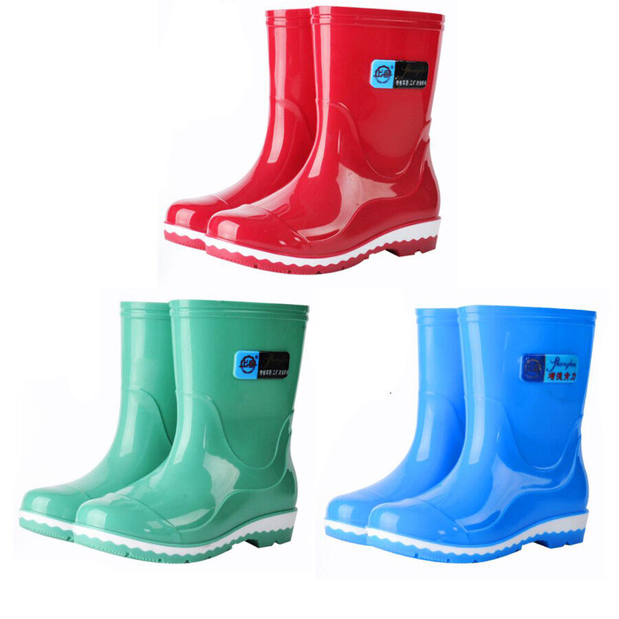 Fashionable ankle boot womens galoshes waterproof rain ...