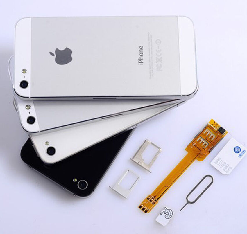 iphone 5s no sim dual sim card adapter flex cable single standby ribbon for 3474