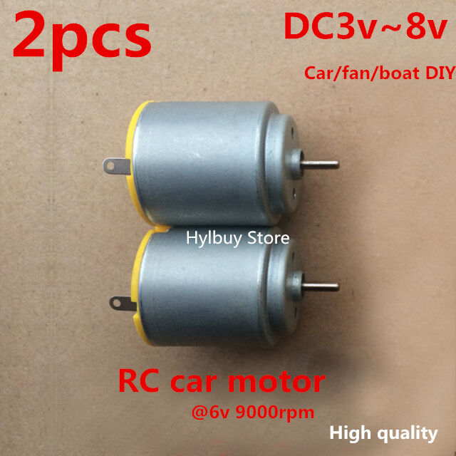 2pcs small mini dc motor 3v 8v 5v for rc car toy fan diy for Small dc electric motor
