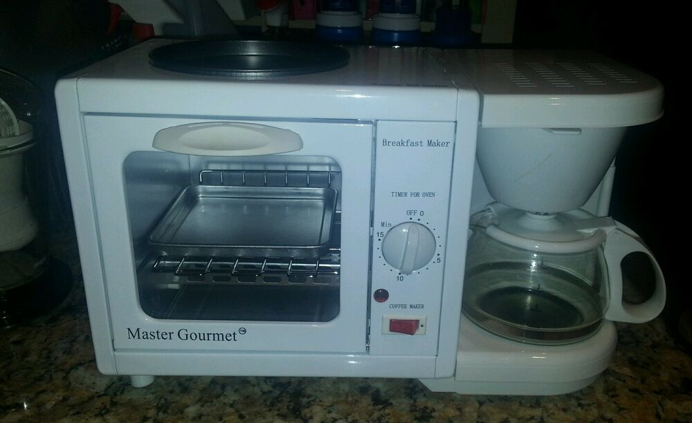 Mini Toaster For Camper ~ In breakfast station coffee maker toaster oven rv dorm
