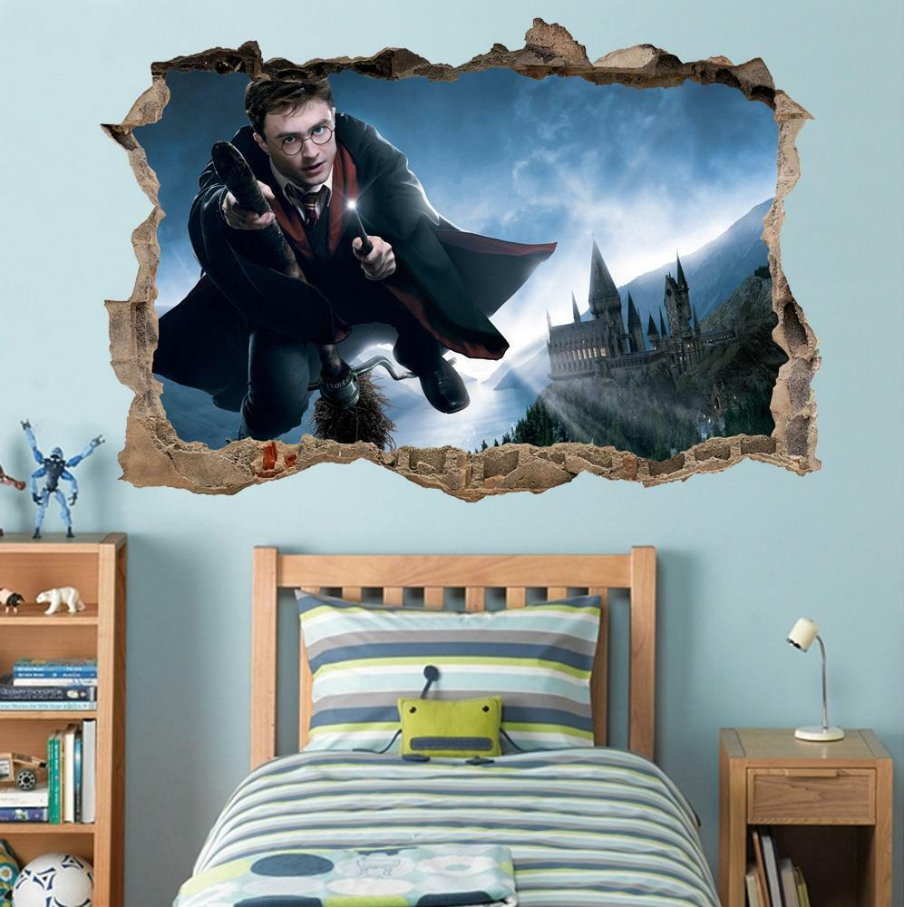 Harry potter smashed wall decal removable wall sticker art for Decal wall art mural