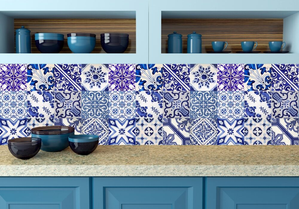 surprising kitchen wall tile designs | Backsplash Tile/wall/Stair kitchen decals style 12 DESIGNS ...