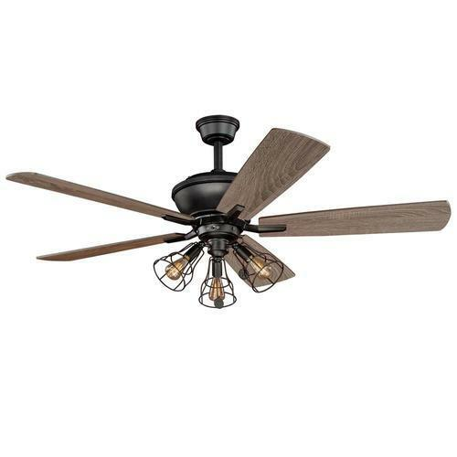 52 Quot Bronze 3 Light Indoor Ceiling Fan With Light Kit Ebay