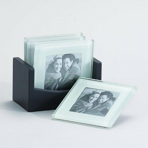 4 Quot Frame Photo Glass Coaster Set Of 4 Item 33221 New