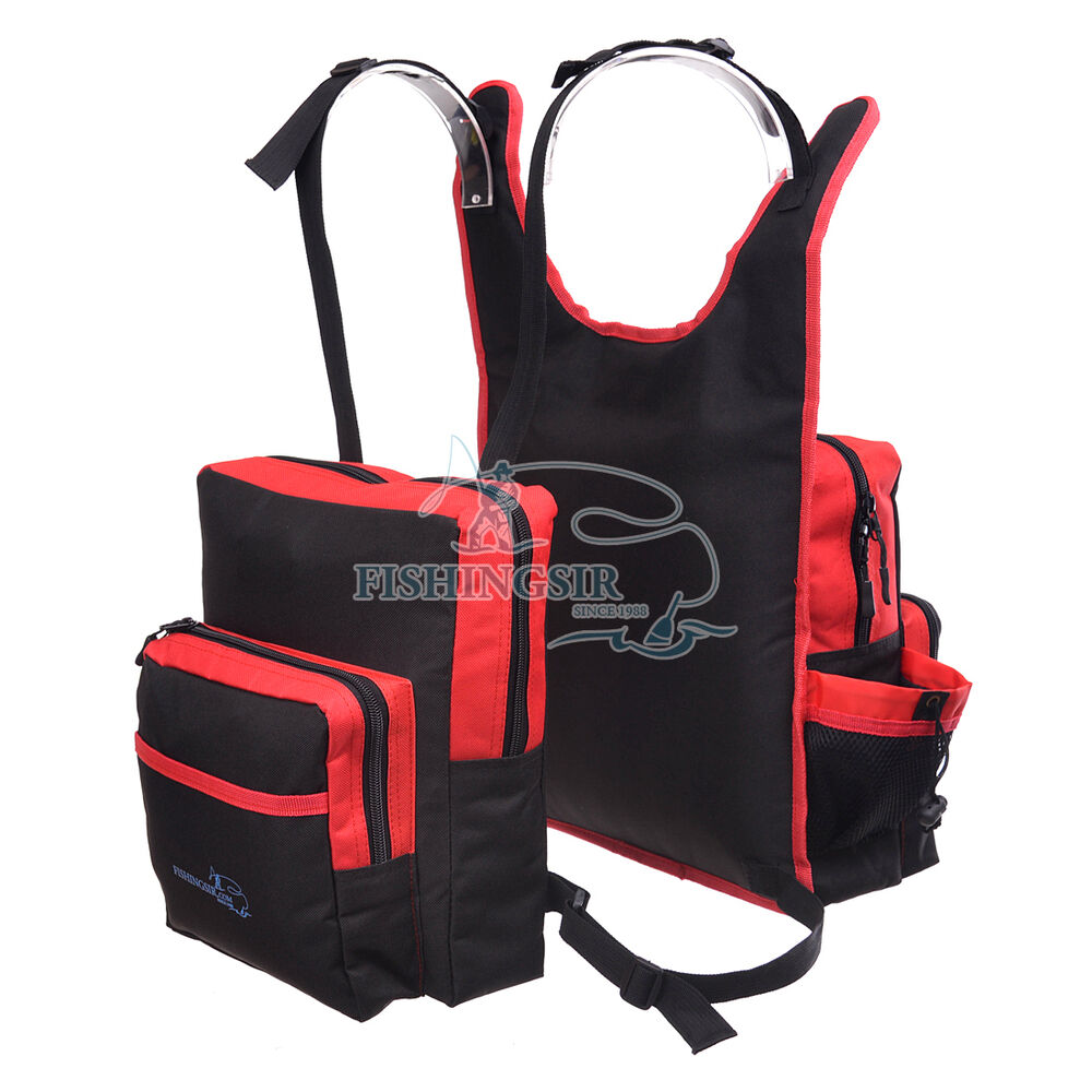 Fishingsir fly fishing backpack vest chest bag reels for Fishing tackle box backpack