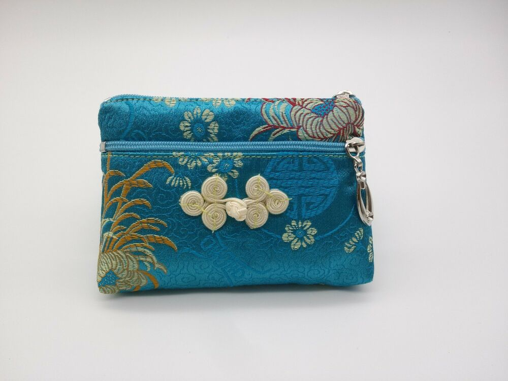 Silk Embroidered Coin Purse 5 Quot Small Change Wallet Pouch