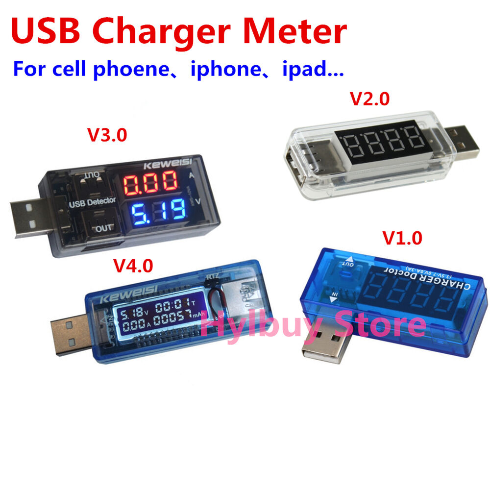 Charger Watt Meter: USB Charger Meter Changing Voltage Current Watt Detector