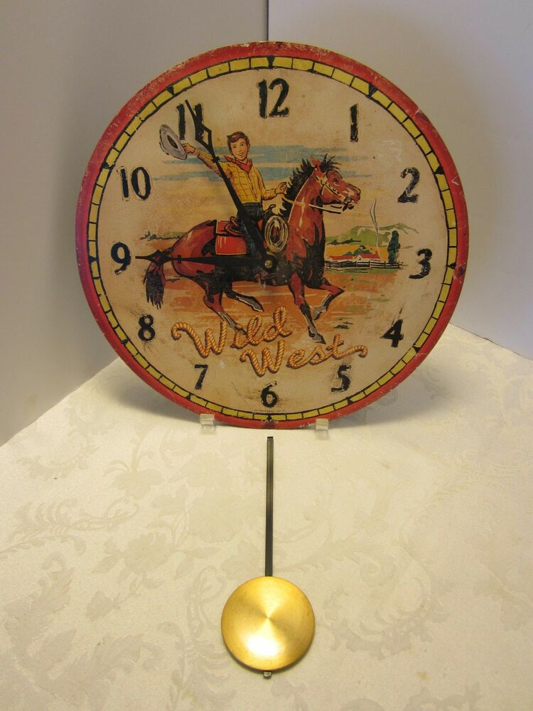 Timeworks Storytime Collection Wall Clock Pendulum Wild