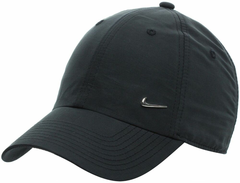 official nike mens metal swoosh logo cap baseball hat golf