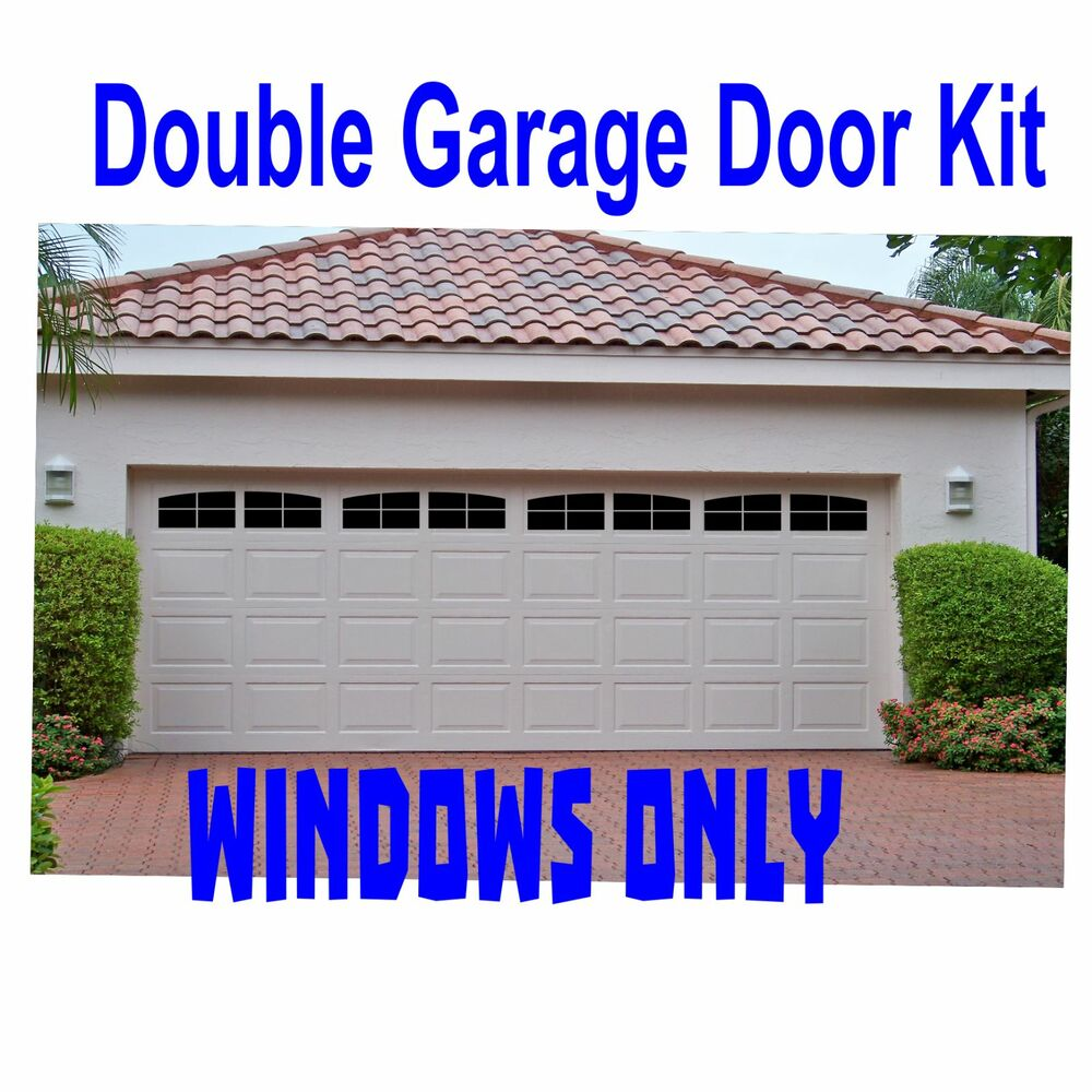 Carriage House Style Faux Windows Garage Door Vinyl Decals