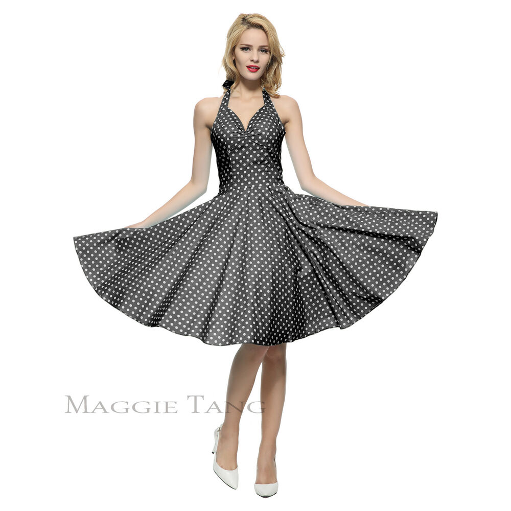 Maggie tang 50s vtg retro pinup rockabilly polka dot for Classic 50s housewife