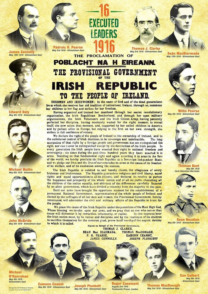 proclamation of the irish republic The proclamation of the irish republic is both a defiant call to arms, an eloquent justification of actions, a dramatic statement of ideals and a poignant prayer to irish nationhood.
