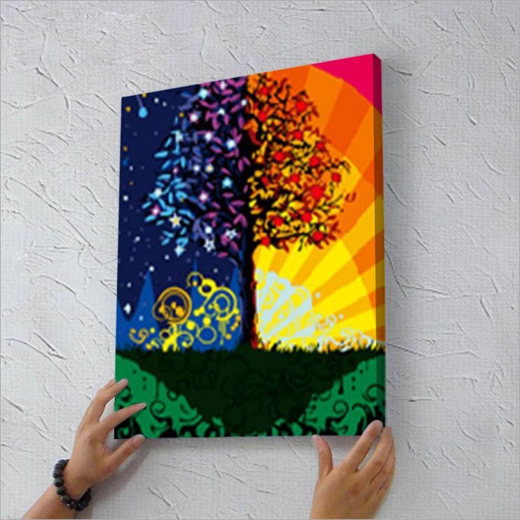 """16"""" x 20"""" DIY Paint By Number Kit Acrylic Painting On ..."""