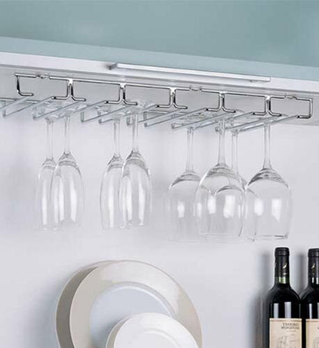 Stemware Rack Hanging Storage Wine Glass Holder Under