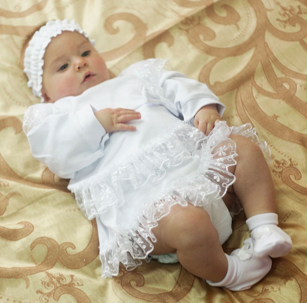 Baby Girl Christening Shoes White