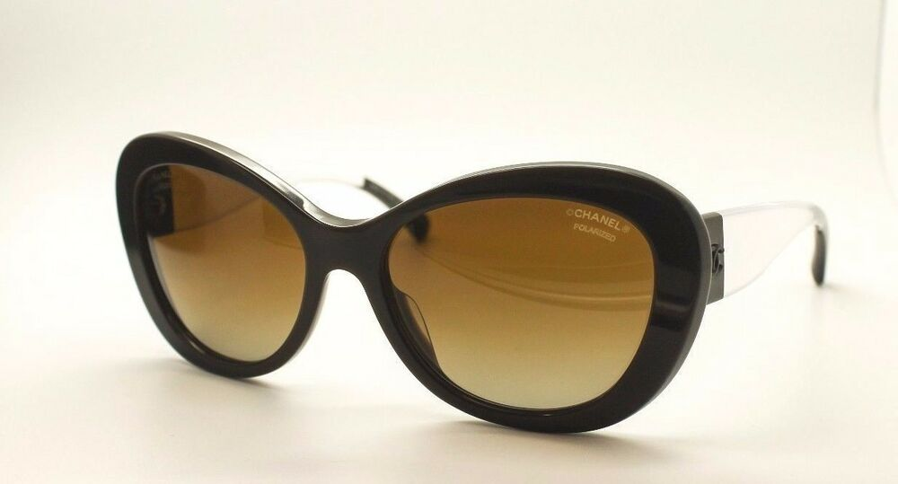 Chanel Clear Frame Glasses : Chanel 5264 1276/S9 Polarized Cateye Sunglasses Brown ...