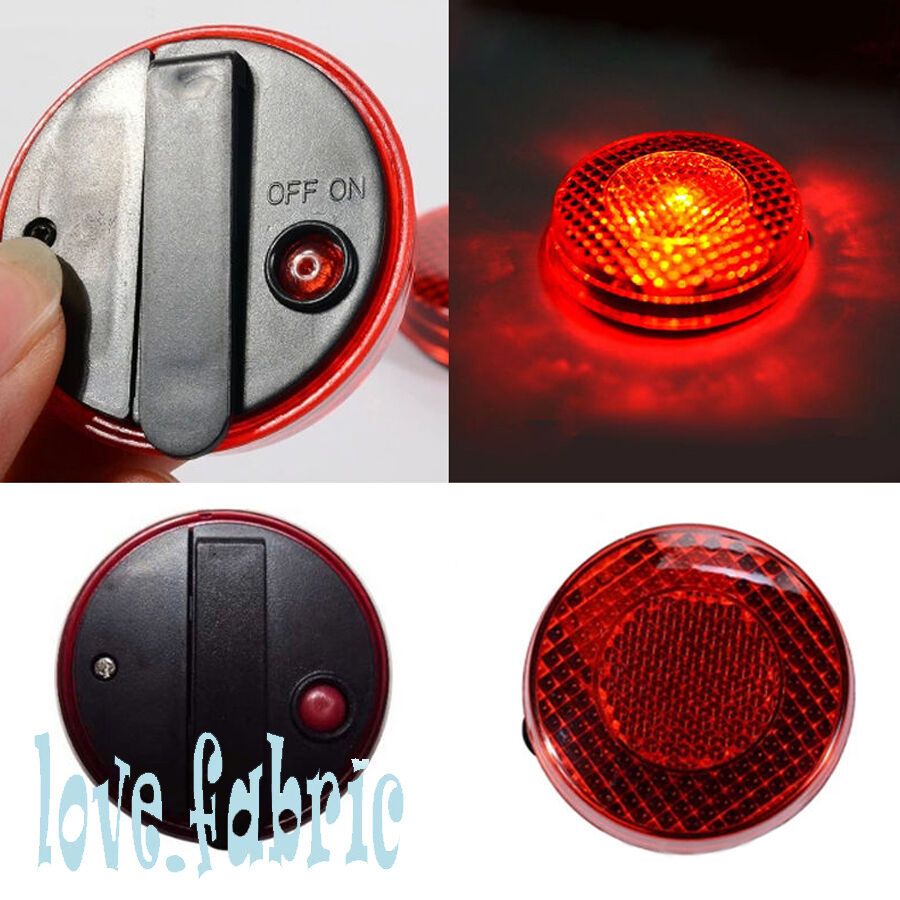 reflective safety led strobe flashing warning clip on. Black Bedroom Furniture Sets. Home Design Ideas