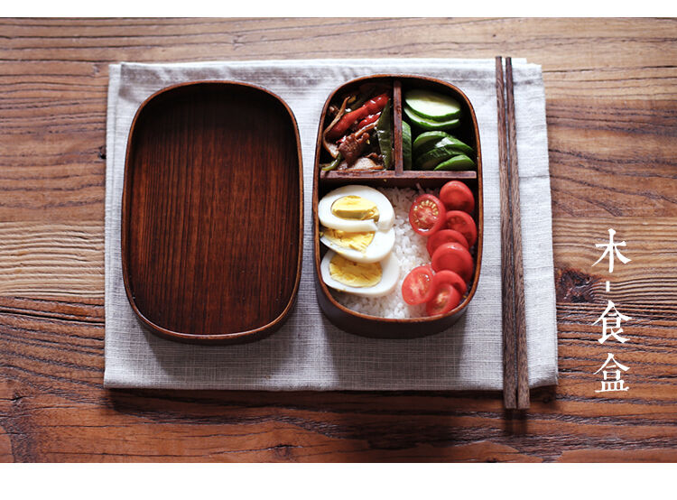 japan style natural willow fir wood lunch box wooden bento cuisine boxes bowl ebay. Black Bedroom Furniture Sets. Home Design Ideas
