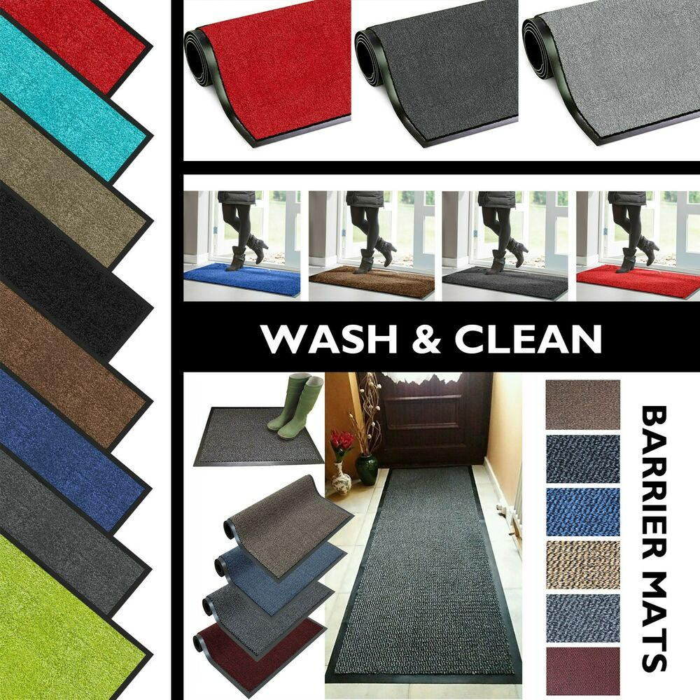 Rubber Kitchen Mats: HEAVY DUTY BARRIER DOOR MATS RUGS NON SLIP HALL KITCHEN