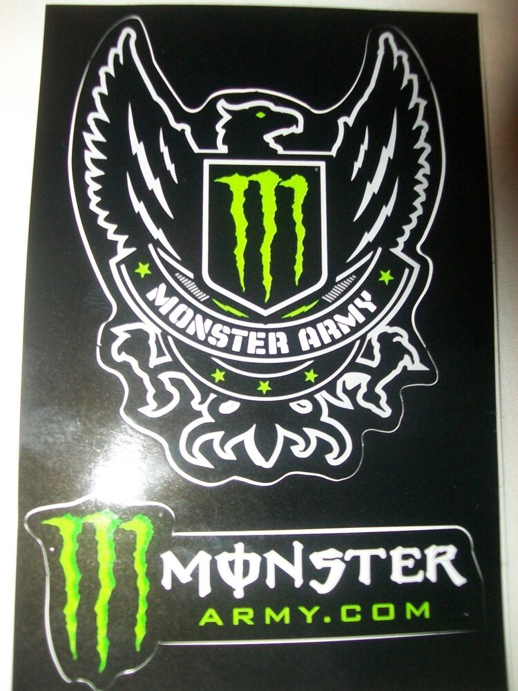 1 new monster energy army sticker decal 3 x 4 5 inches. Black Bedroom Furniture Sets. Home Design Ideas