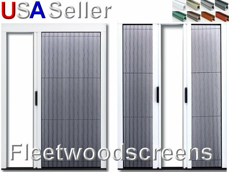 Retractable pleated folding sliding patio door screen for Pocket screens sliding doors