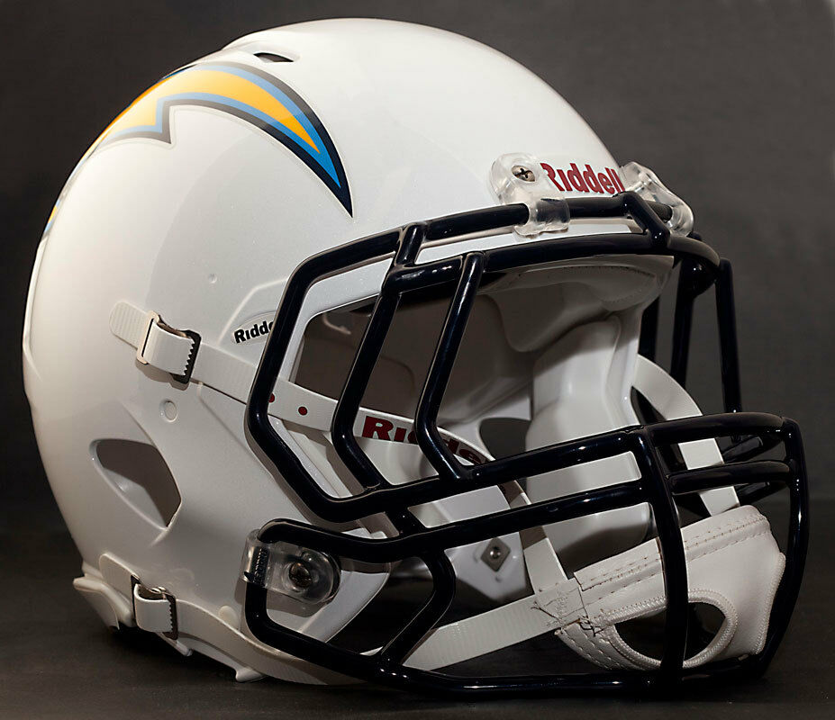San Diego Chargers Helmet Decals: ***CUSTOM*** SAN DIEGO CHARGERS NFL Riddell Speed