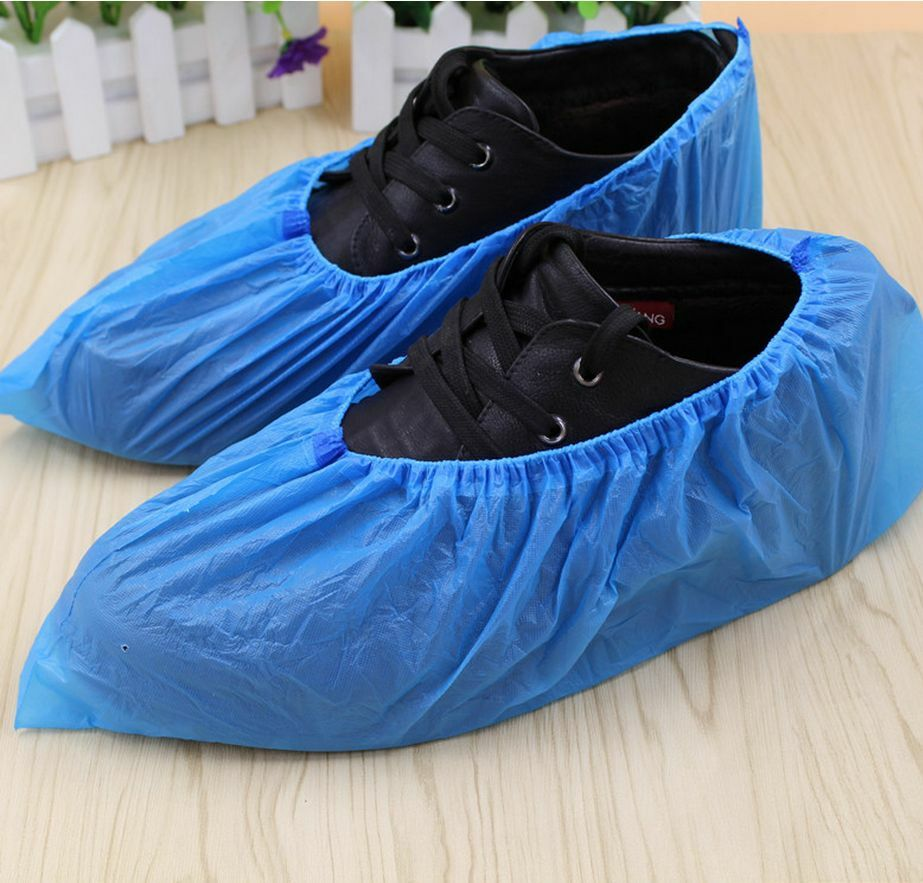 100 Pcs Disposable Shoe Covers Antiskid Dust Free Big 1