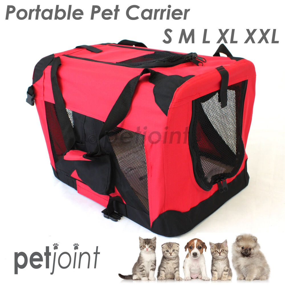 S m l xl xxl pet soft crate portable puppy dog cat carrier for Xl soft dog crate
