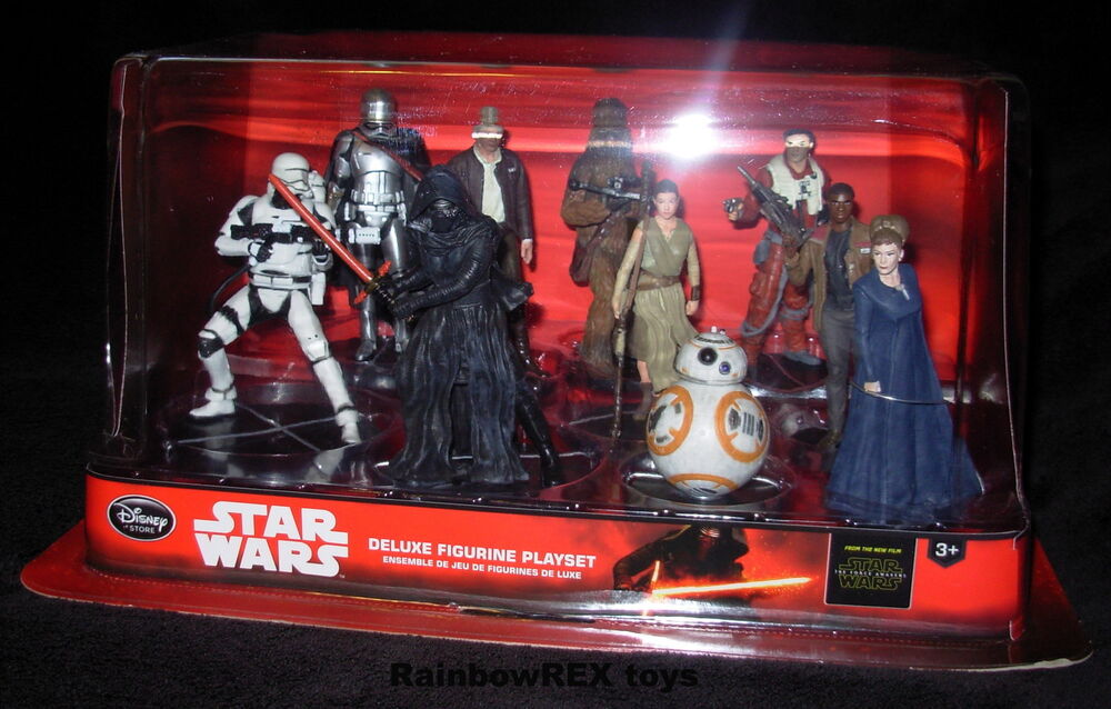 Star Wars DISNEY STORE DELUXE FIGURINE PLAYSET OF 10 Force ...