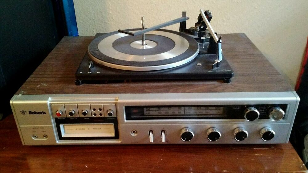 Roberts R 9060 Vintage Turntable Record Player 8 Track