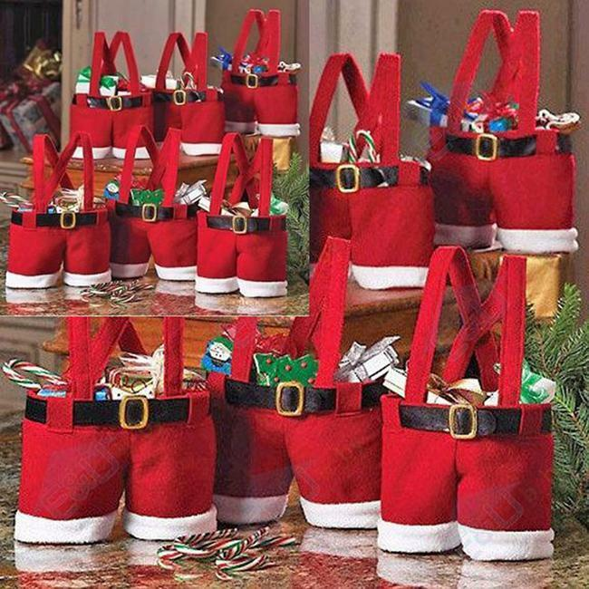 Wholesale Red Santa Claus Christmas Wedding Candy Bags ...