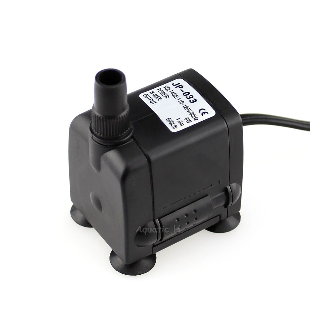 160 Gph 110v Submersible Pump Aquarium Pond Powerhead