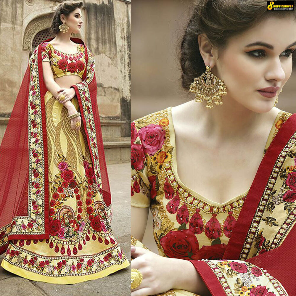 Lehenga Choli Traditional Wedding Designer Indian Latest