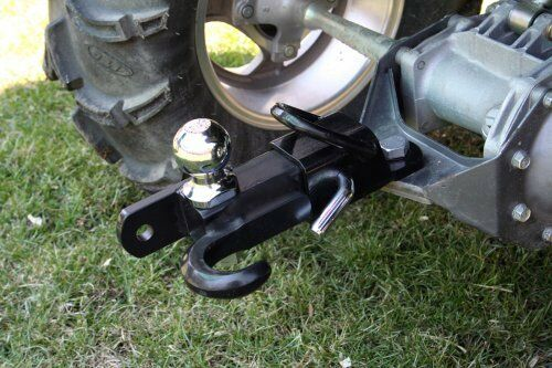 Tractor Tow Hooks : Komodo atv way receiver hitch quot ball tow hook mount