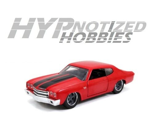 JADA 1:32 FAST & FURIOUS DOMS RED 1970 CHEVROLET CHEVELLE ...