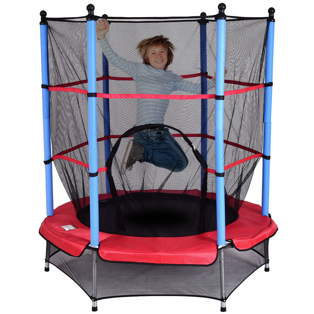 kinder trampolin kindertrampolin gartentrampolin indoor outdoor 140cm f r kinder ebay. Black Bedroom Furniture Sets. Home Design Ideas