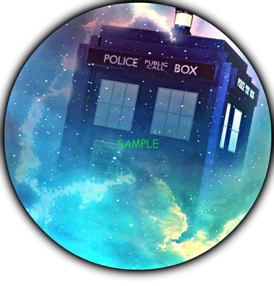 Doctor Who Round Edible Birthday Cake Topper Frosting