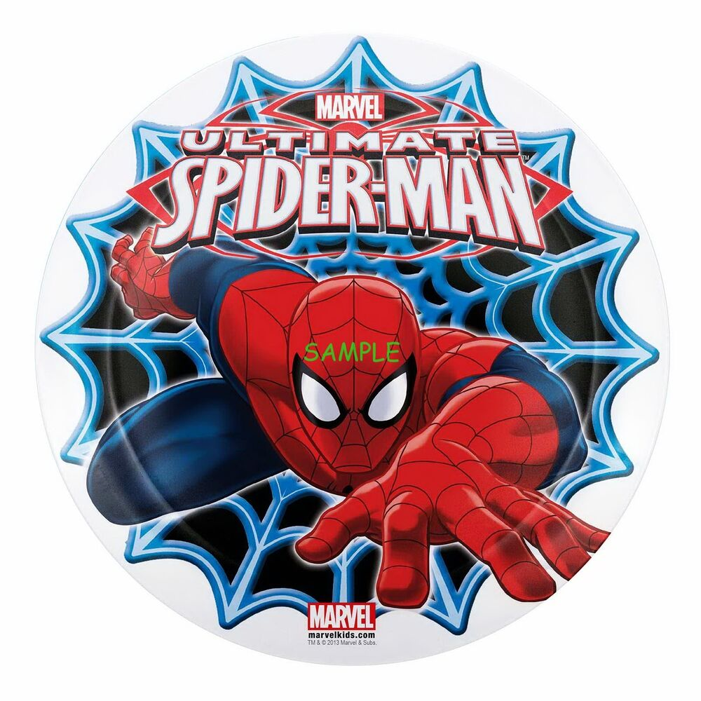 Spiderman Round Edible Birthday Cake Topper Frosting Sheet
