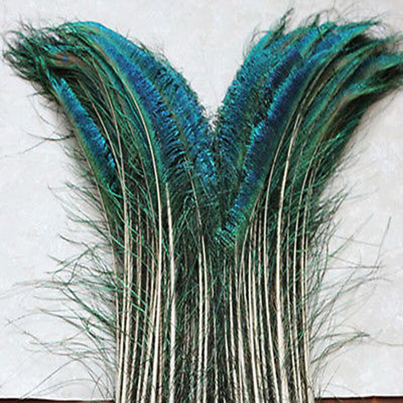 50 100pcs beautiful sword peacock feather right left 30 for Where to buy craft feathers