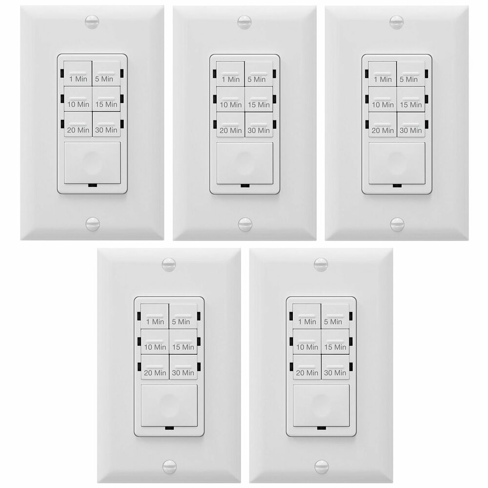 5 pack in wall het06a countdown timer light switch led. Black Bedroom Furniture Sets. Home Design Ideas