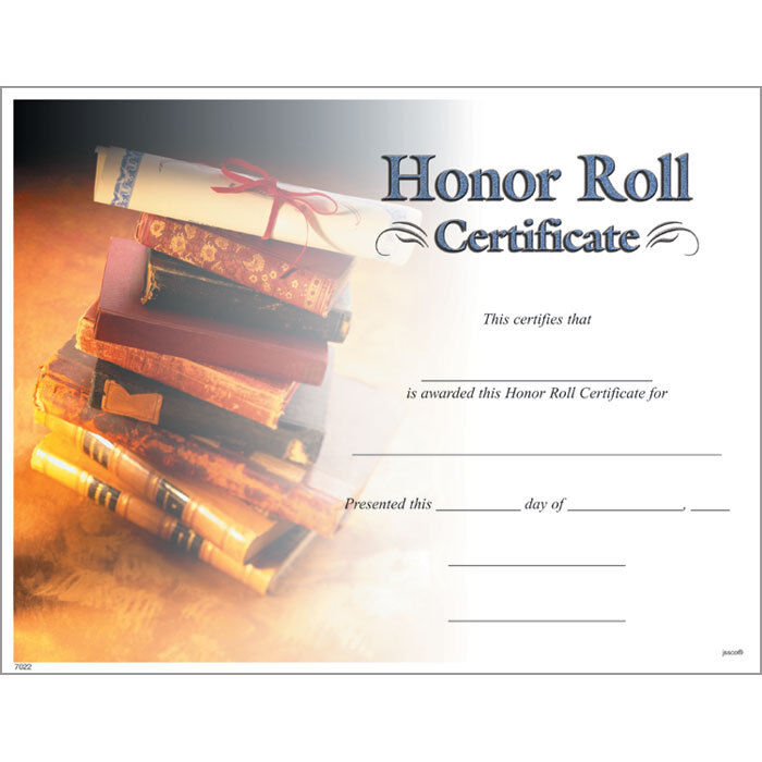 This is a photo of Shocking Free Printable Honor Roll Certificates
