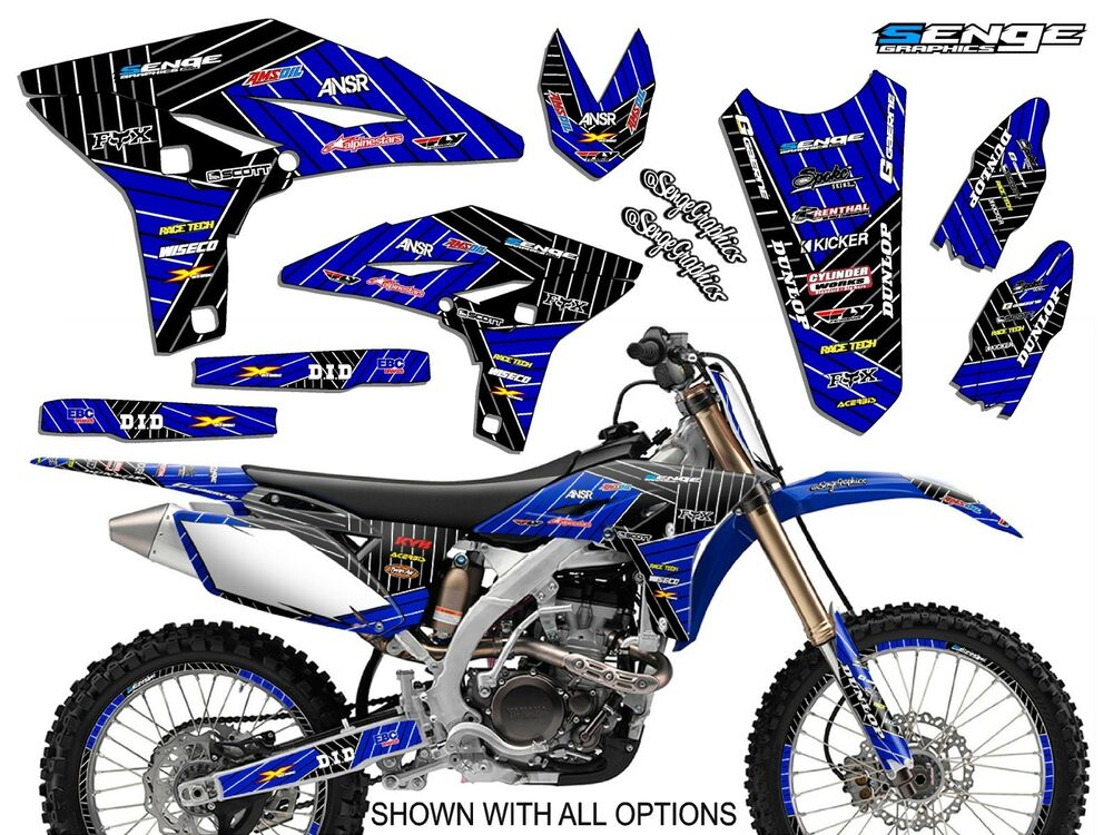 2000 2001 yamaha yz 125 250 graphics yz125 yz250 deco kit stickers senge ebay. Black Bedroom Furniture Sets. Home Design Ideas