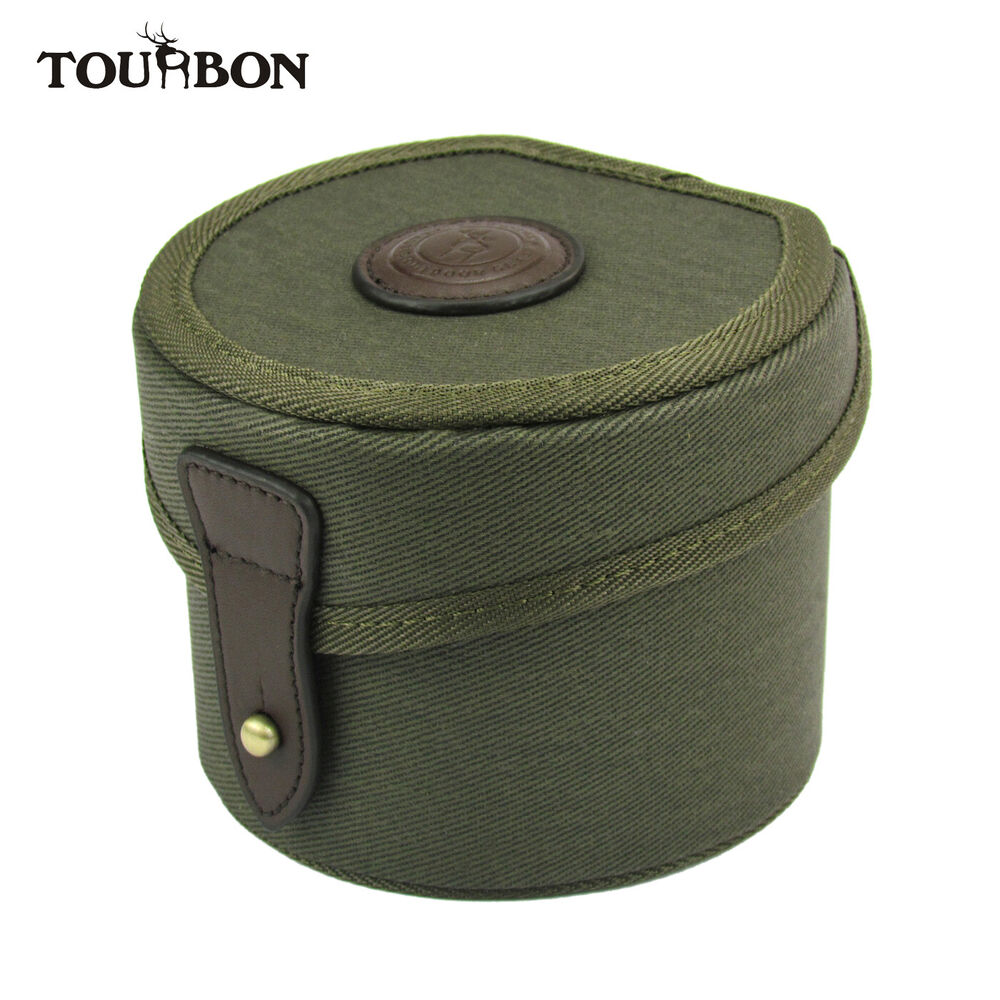 Tourbon Fly Fishing Tubbiness Reel Case Cover Canvas