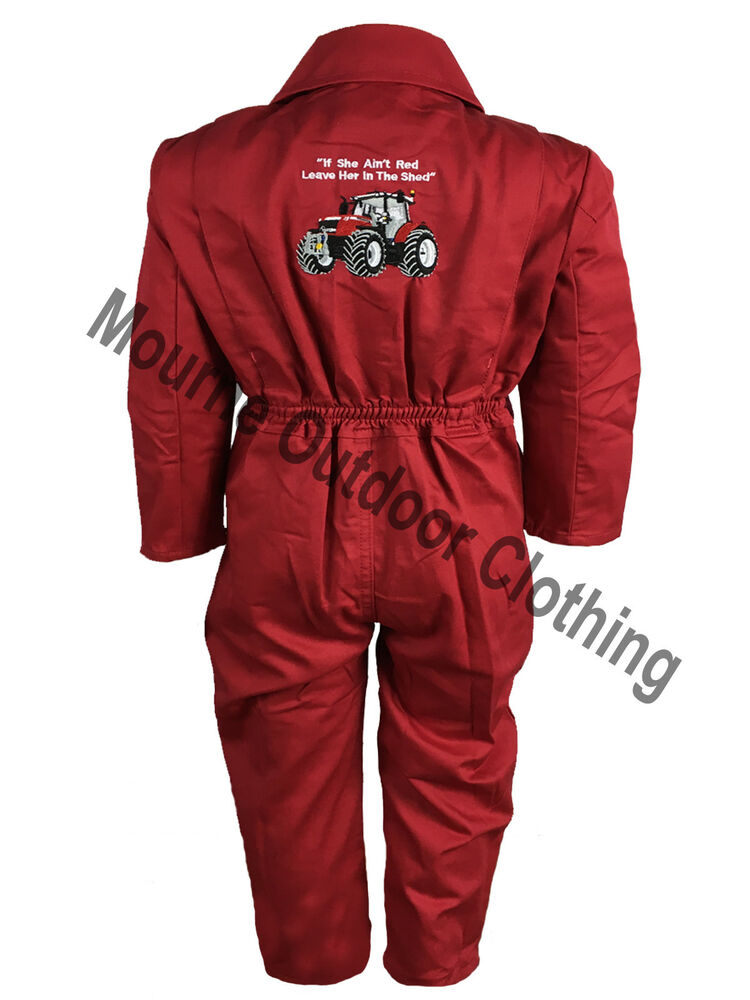 Kids Massey Ferguson Tractor Logo Tearaway Junior Coverall