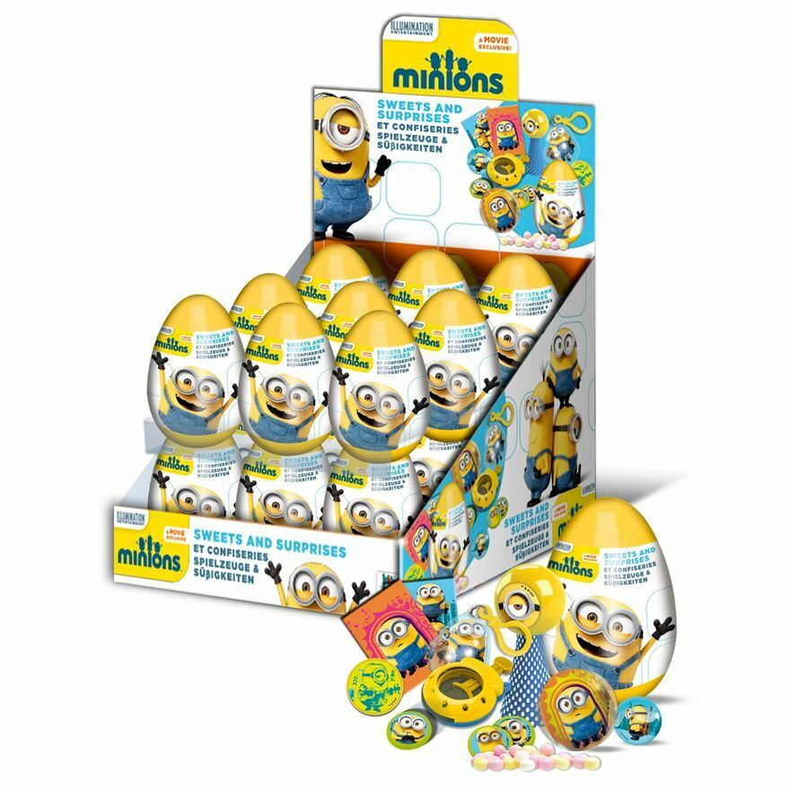 Minions surprise plastic eggs sweet surprise18 full box gifts birthday kids ebay